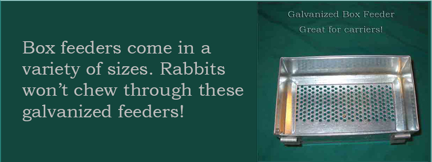 Perforated bottom - Ideal for travel carriers. Rabbits won\'t chew these galvanized feeders!